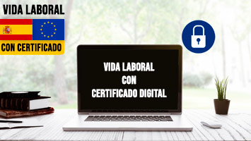 Vida laboral con certificado digital