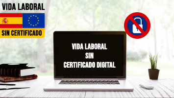 Vida laboral sin certificado digital
