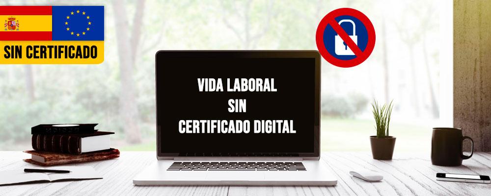 Pedir la Vida laboral sin certificado digital